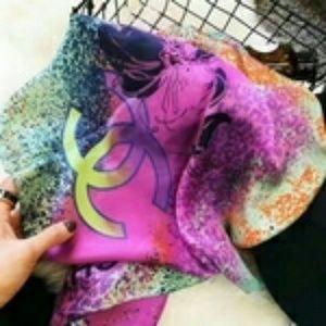 Coco scarf shawl wrap Cc Chanel